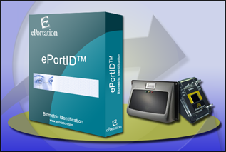 ePortId Product Image with Palm Secure and Eyeglance