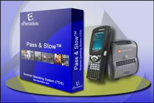 Pass And Stow Product Image with Psion Teklogix Handheld and O'Neil Printer